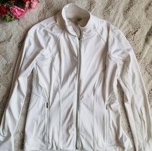 Athleta White Full Zip Breathable Mesh Jacket S